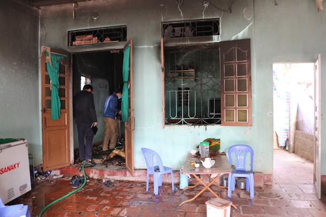 Hiện trường ngôi nhà bị cháy khiến 2 cha con thiệt mạng thương tâm