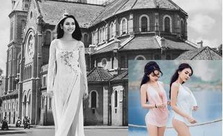 Á hậu Hoàng My gửi 2 hot girl chụp ảnh ở Tuyệt Tình Cốc:
