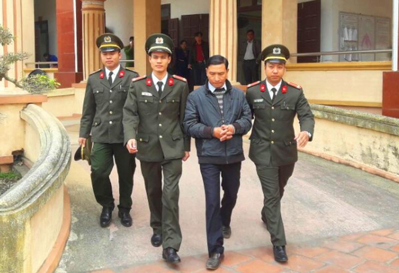 Đinh Trọng Tấn - Bí thư Đảng Ủy xã Quảng Lĩnh bị bắt giữ vào ngày 2/3 vừa qua