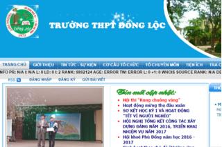 Website Trường THPT Đồng Lộc bị chèn.... truyện người lớn
