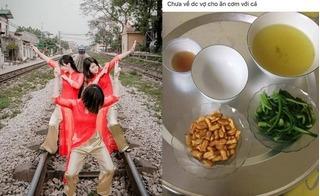 Ảnh nóng trong ngày: Ba thiếu nữ tạo dáng chụp ảnh bất chấp tàu hỏa đang vùn vụt lao đến