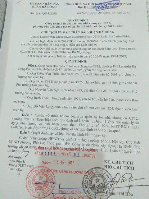 Chung cư CT12 Văn Phú 3
