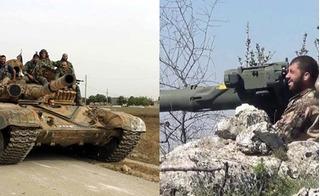 Tên lửa TOW của phiến quân giáng đòn nghiền nát xe tăng quân đội Syria