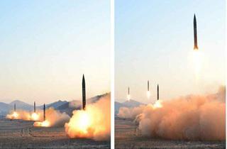 Triều Tiên tung ảnh phóng 4 tên lửa, Mỹ nhận xét quá nhanh quá nguy hiểm