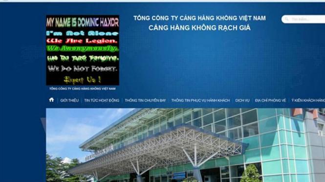 website sân bay bị tấn công 1