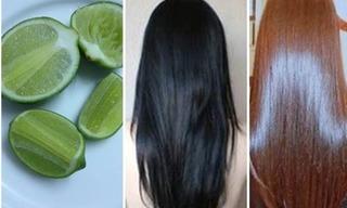 Công thức nhuộm tóc màu hạt dẻ chỉ bằng 1 quả chanh cực đơn giản