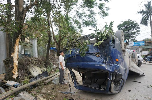 xe tải leo lên cây