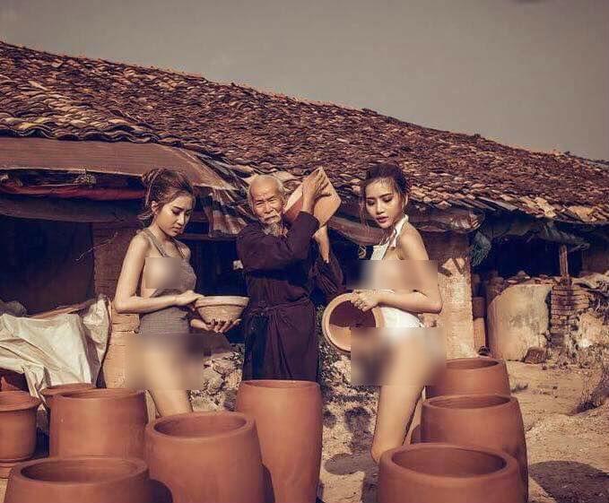 bộ ảnh thôn nữ làng gốm 1