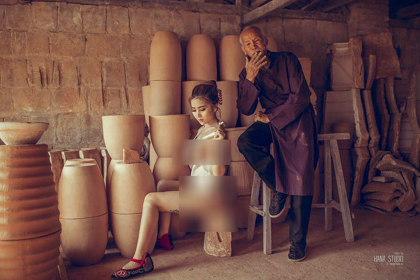 bộ ảnh thôn nữ làng gốm 2