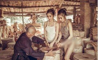 Thôn nữ phiên bản làng gốm: Ảnh 16+ chứ nghệ thuật gì!