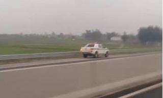 Sự thật vụ xe CSGT chạy ngược chiều 100km/h trên cao tốc Hà Nội – Hải Phòng