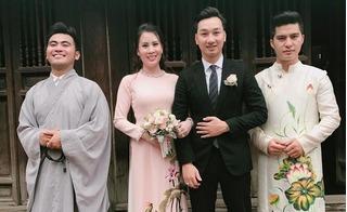 MC Thành Trung và vợ hai làm lễ hằng thuận tại chùa