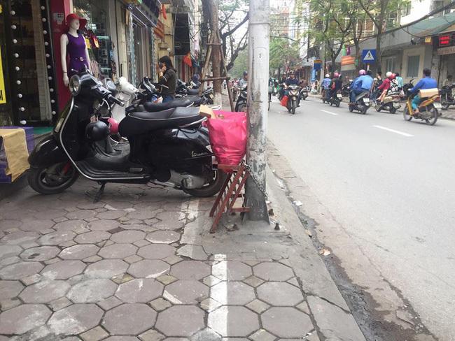 kẻ vạch vỉa hè Hà Nội 10