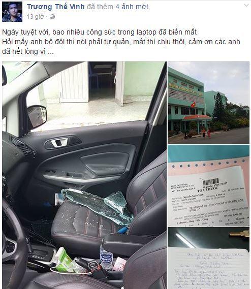 Trương Thế Vinh bị đập vỡ kính ôtô, cướp tài sản khi đi khám bệnh 1