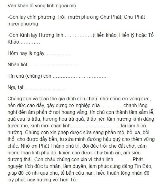 Cách cúng Tết Thanh Minh 4