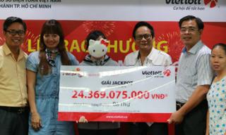 Nữ nhân viên văn phòng ẵm trọn 24,3 tỷ nhờ mua xổ số Vietlott theo ngày sinh