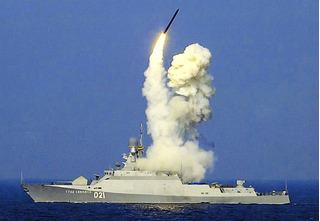 Nga phóng tên lửa vô song Kalibr khiến phiến quân Syria chìm trong địa ngục