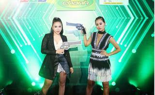 Khả Như và Nam Thư cực gợi cảm đi ra mắt gameshow trinh thám