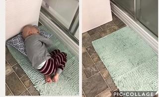 Xót xa nhìn con trai bị ung thư nằm trên thảm chùi chân phòng tắm để gần mẹ lúc cuối đời