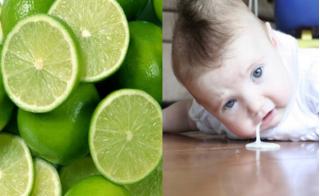 Bài thuốc từ chanh giúp trẻ hết nôn trớ
