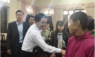 Chủ tịch Nguyễn Đức Chung đã về thôn Hoành, đang trực tiếp đối thoại với dân Đồng Tâm