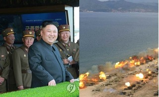 Bí mật cất sau nụ cười của ông Kim Jong-un khi xem pháo binh phô diễn hỏa lực kinh hoàng