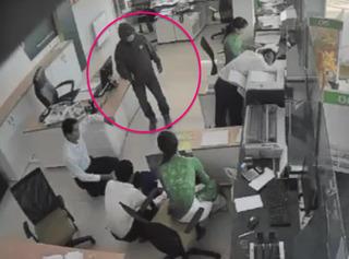 Lộ diện nghi phạm vụ cướp ngân hàng Vietcombank ở Trà Vinh