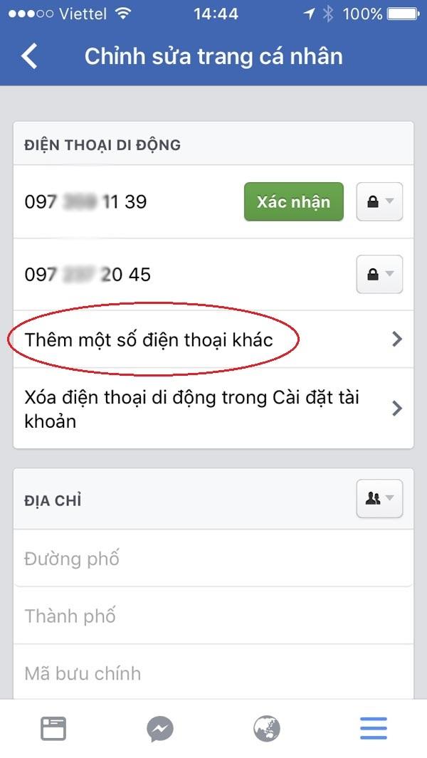bảo mật Facebook trên điện thoại 10