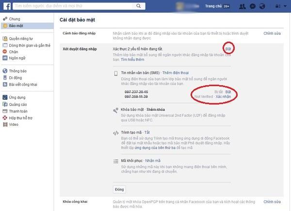 bảo mật Facebook trên điện thoại 13