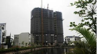 Công trình 18 tầng xây không phép nằm