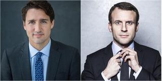 Làn sóng so sánh vẻ đẹp trai quyến rũ của Tân Tổng thống Pháp và Thủ tướng Canada