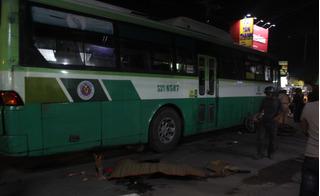 Xe buýt cán chết nam thanh niên sau va chạm giao thông