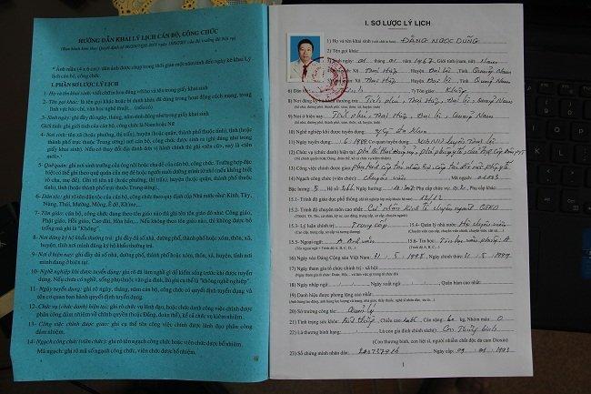 Hồ sơ của ông Dũng ghi năm 1967