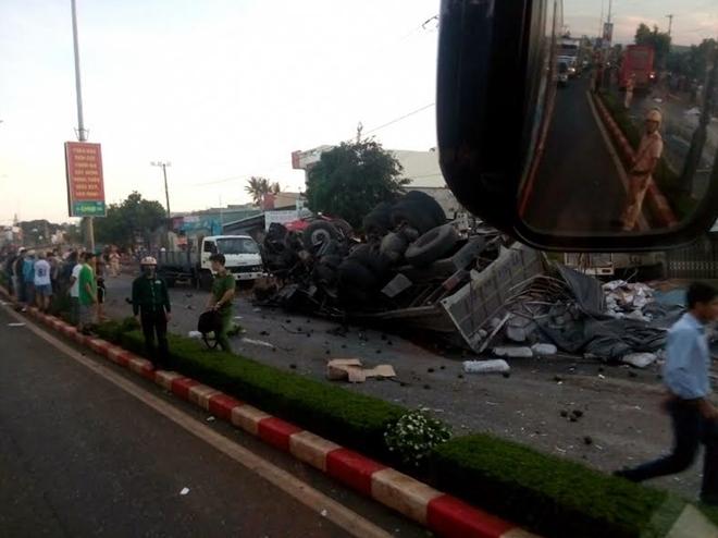 Chiếc xe tải gây ra vụ tai nạn có nhiều điểm bất thường