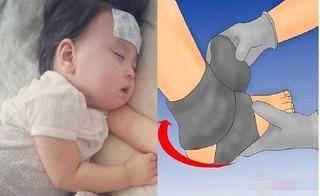 Hạ sốt nhanh và an toàn cho trẻ nhỏ chỉ nhờ một đôi tất được sử dụng theo cách này