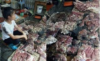 Mang thịt ở quê lên thành phố bán giá rẻ, người phụ nữ bị đối thủ đổ dầu nhớt lên cả người lẫn thịt