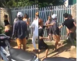Sáu nam thanh niên cầm tuýp sắt đánh tới tấp 1 thiếu nữ