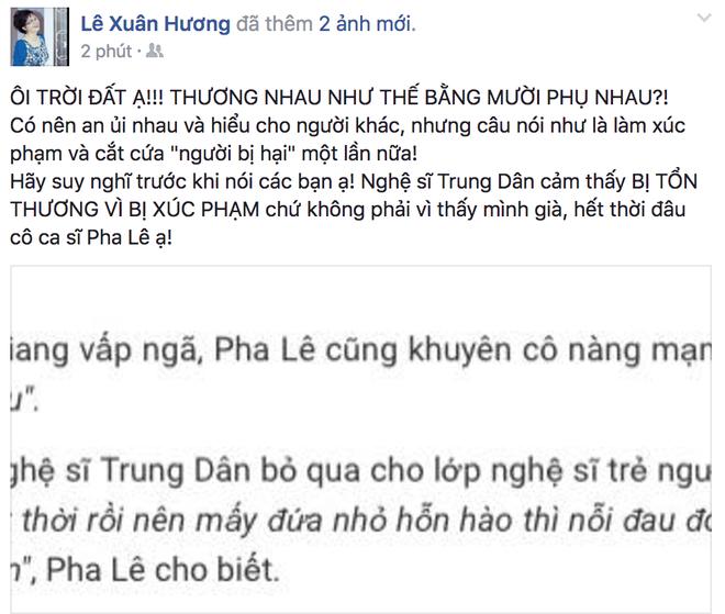 Lại thêm vụ ca sĩ Pha Lê tố bị nghệ sĩ Xuân Hương xúc phạm nặng nề