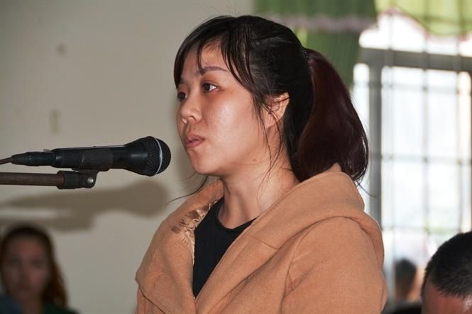 Bị cáo Hương trước tòa