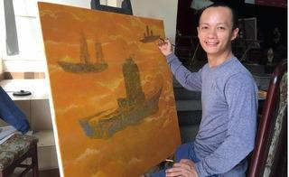 Họa sĩ Phạm Huy Thông lý giải ý nghĩa những bức tranh không có mặt, chỉ có... tiền và bàn tay