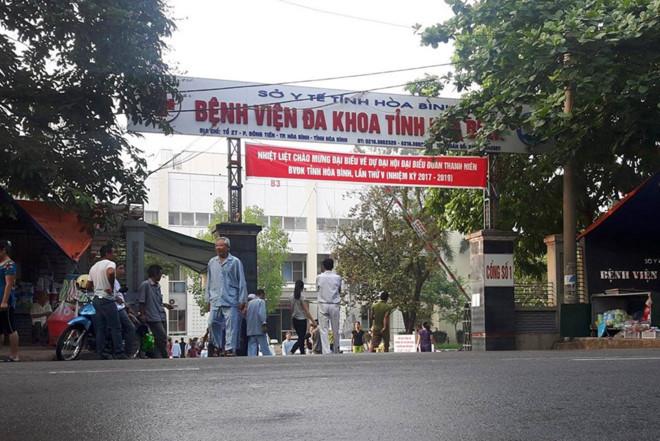 Bệnh viện Đa khoa tỉnh Hòa Bình - nơi xảy ra vụ việc 7 bệnh nhân tử vong sau khi chạy thận