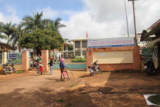 Trung tâm Y tế huyện Đăk Đoa - nơi xảy ra vụ tai nạn hy hữu