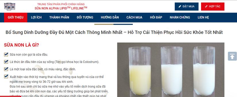 Dòng sữa non được website http://suanonnhapkhau.com đang quảng cáo