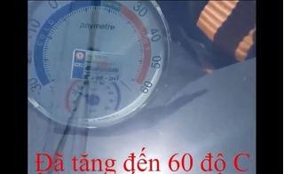 Video ô tô ở Hà Nội nóng 70 - 80 độ C, trứng chín trên mặt kính, bật lửa gas phát nổ