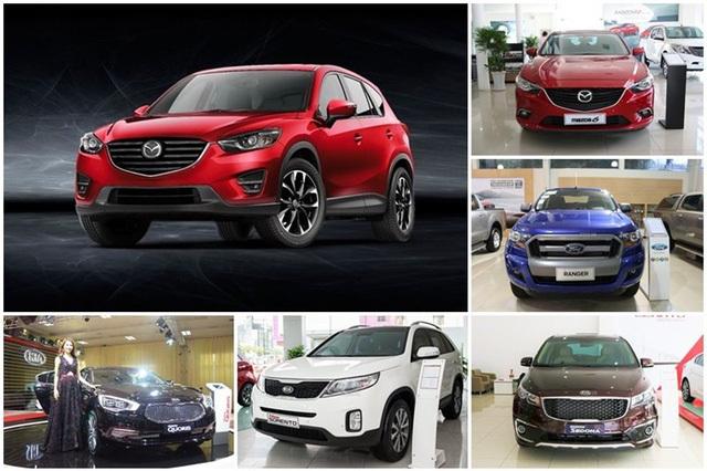 Các mẫu xe giảm giá mạnh trong tháng qua