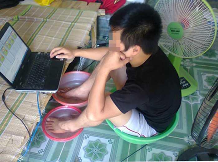 ảnh chế nắng nóng kỷ lục ở Hà Nội 11