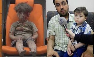 Cậu bé Syria khiến cả thế giới bật khóc từng bị cha cạo đầu để trốn chạy báo chí