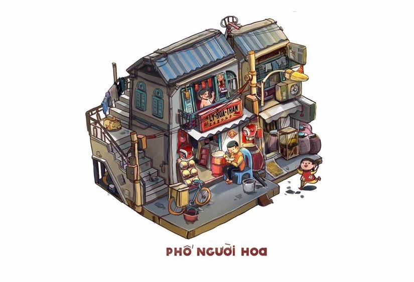 Phố người Hoa đơn giản nhưng nhộn nhịp trong Sài Gòn 3 mét vuông
