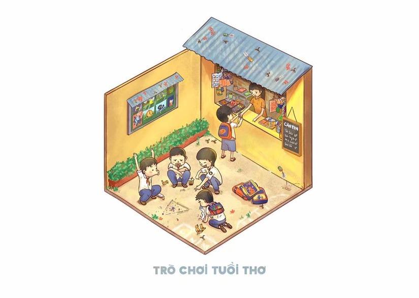hình ảnh gợi nhớ về tuổi thơ của Sài Gòn 3 mét vuông