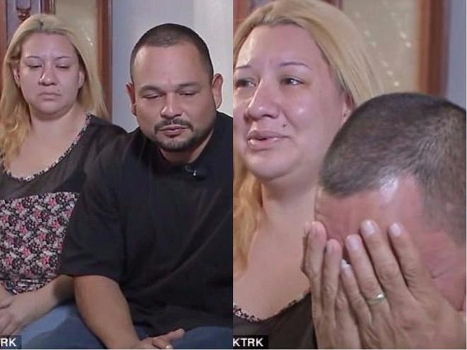 Bố mẹ em đang rất đau lòng trước sự ra đi đột ngột của con trai vì chết đuối cạn. Ảnh: KTRK